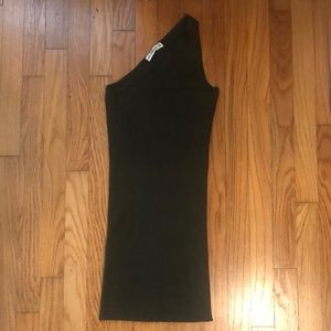 Small Army green one shoulder dress